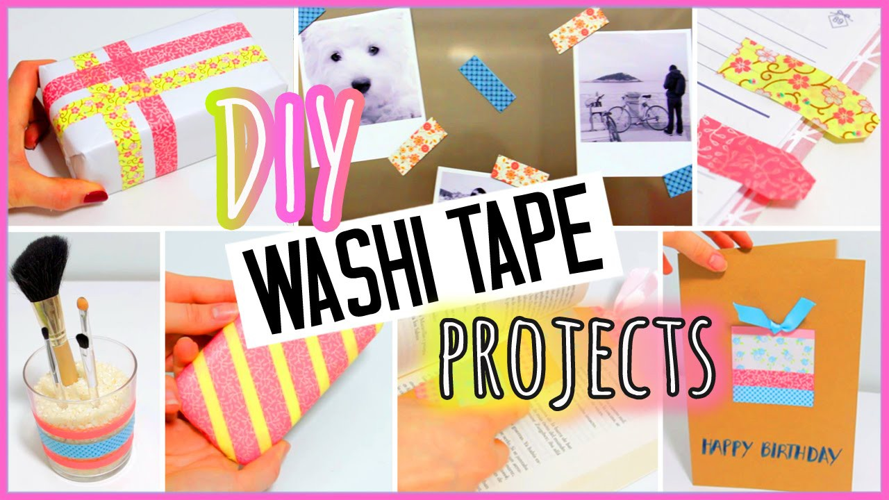 7 DIY washi tape projects you need to try! EASY