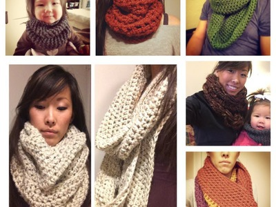 """A VERY in depth """"How to crochet a chunky Infinity Scarf and.or Cowl"""" 