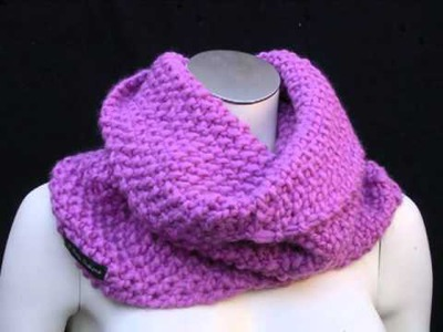 Accessorise with an Edie O'hara Chunky Knit Wool Snood Cowl