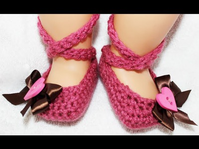 Ballerina Crochet Baby Booties By Crochet Guru
