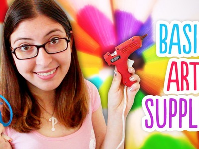 Basic Art Supply Kit. Great for Back to School or Beginner DIY Projects!