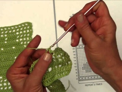 Basic Filet Crochet with Aunt Lydia's Thread