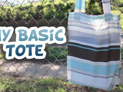 Basic Tote Bag DIY [EASY] - Whitney Sews