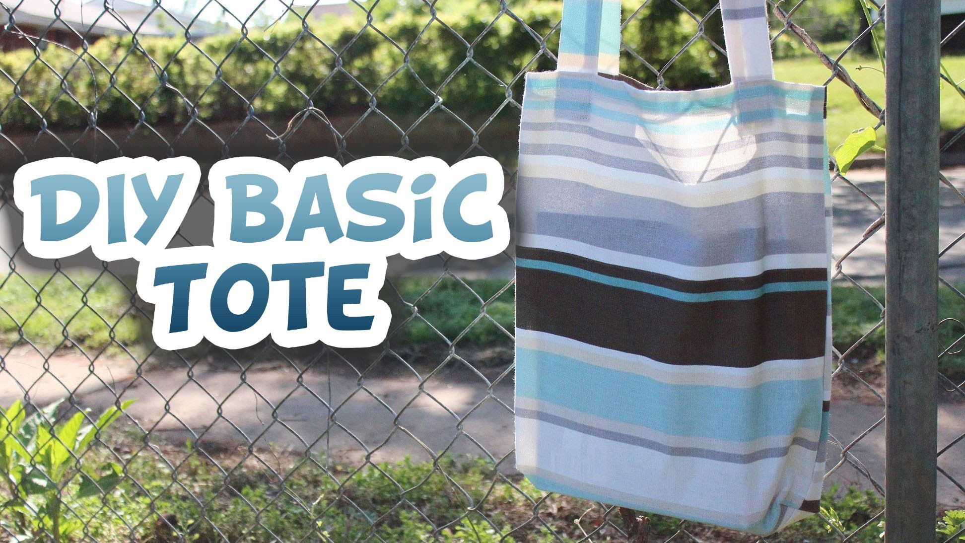 Basic Tote Bag DIY [EASY] - Whitney Sews