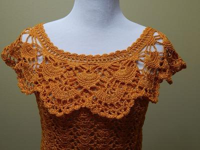 Blusa Tejida para Verano Crochet parte 2 de 2