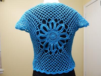 Bolero Fácil Crochet parte 2 de 3