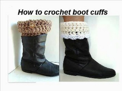BOOT CUFFS TO CROCHET. crochet pattern, how to crochet easy boot cuffs