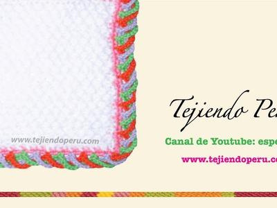 Borde espiralado en 3 colores tejido en crochet