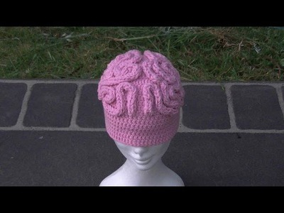 Brain Beanie. Hat Crochet Tutorial