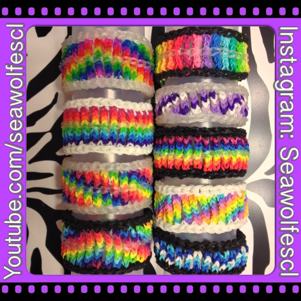 Cable Knit Bracelet on Rainbow Loom