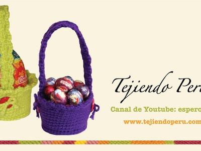 Canastas para huevos de Pascua tejidas en crochet (amigurumi)