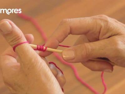 Casting On - Thumb Method - Deramores Knitting Tutorial