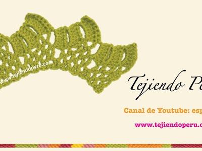 Cenefa para aplicar tejida en crochet # 4