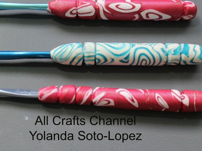 #Clay Covered #Crochet Hooks #polymer clay (English)