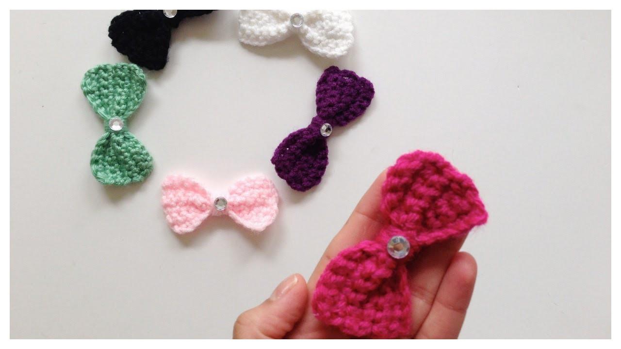 Como hacer fáciles moños a gancho\crochet bows