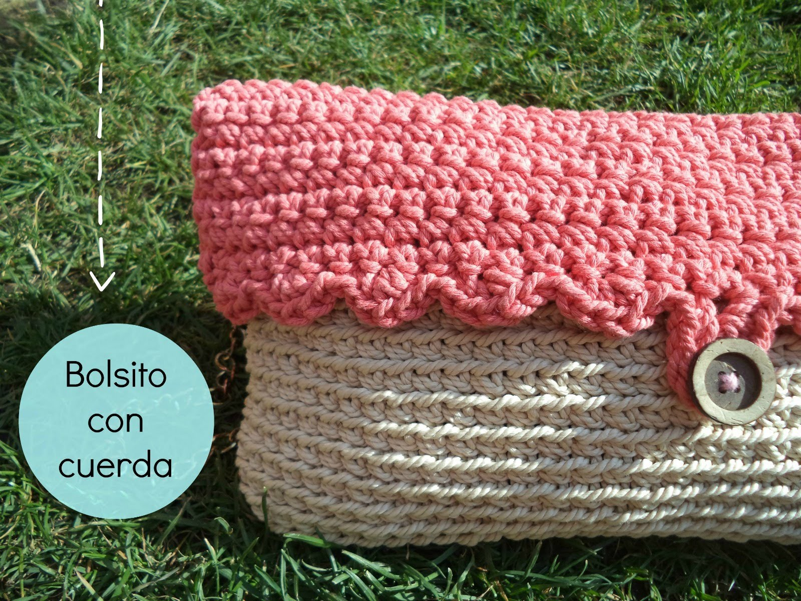 Cómo hacer un bolso de ganchillo con cuerda - How to make a crochet handbag
