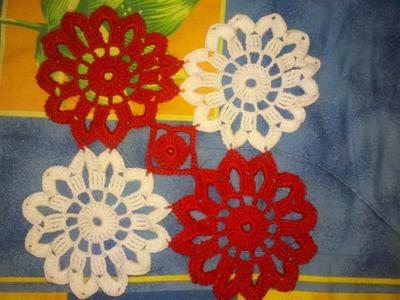Como Hacer un Tapete Uniendo Pastillas a Crochet en Español