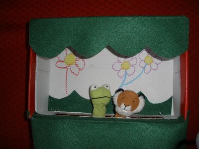 Como hacer un Teatro de marionetas con caja de zapatos. Manualidades, crafts, DIY