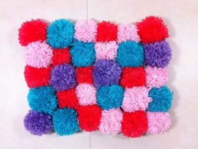Cómo hacer una alfombra de pompones (Tutorial DIY)