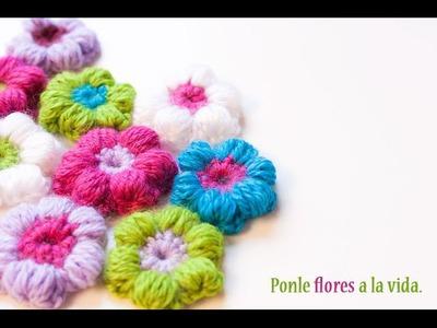 Cómo hacer una flor puff de ganchillo | Crochet puff flower