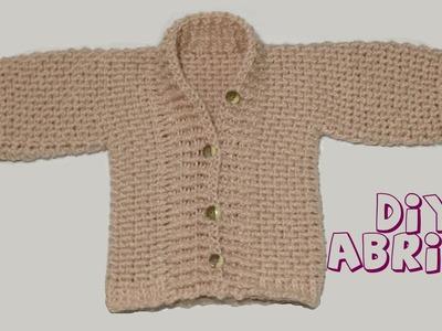 Cómo tejer abrigo de bebé en crochet.