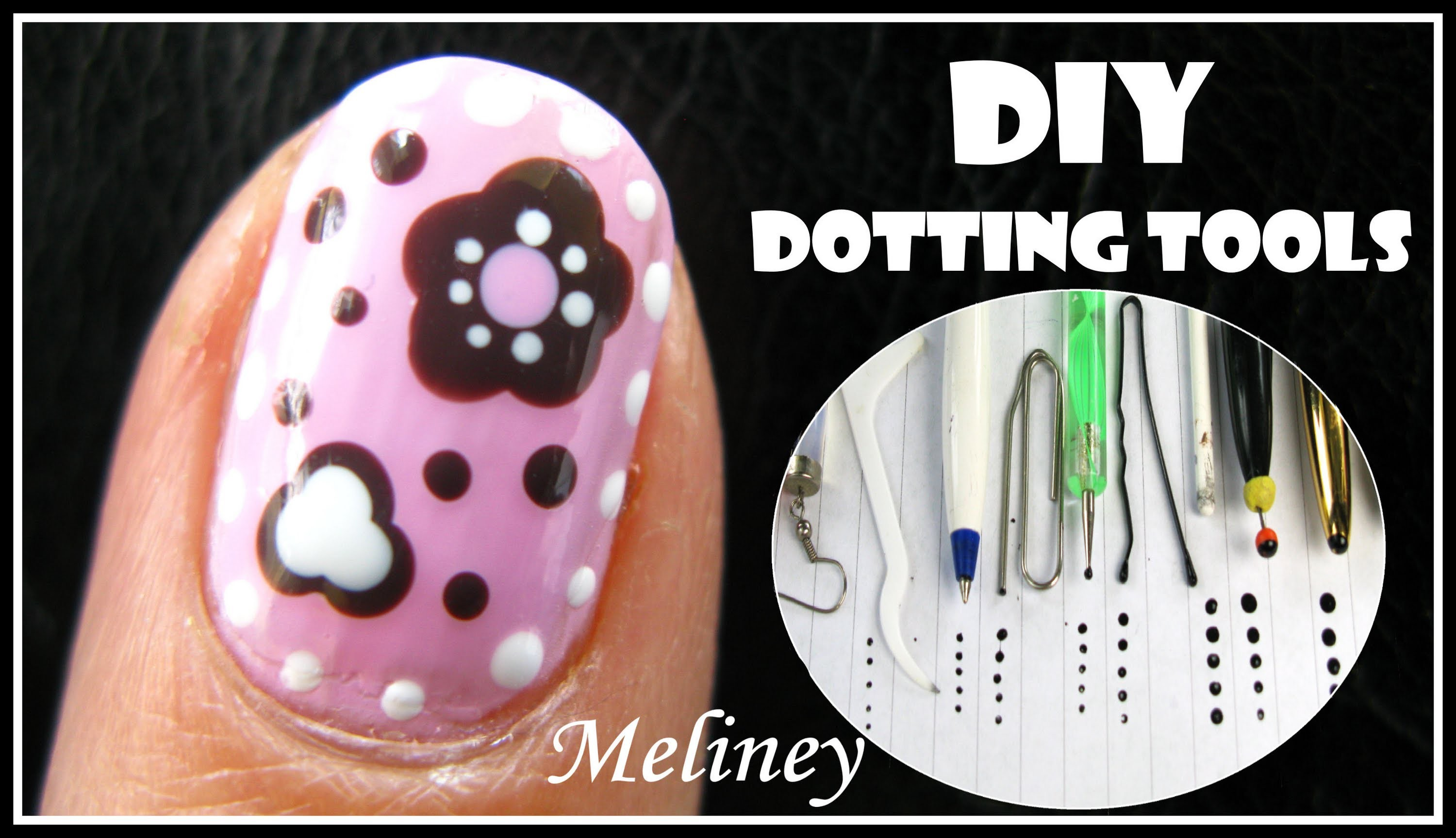 Craft Flower Nail Art Tutorial Diy Dotting Tool Candy Design Easy