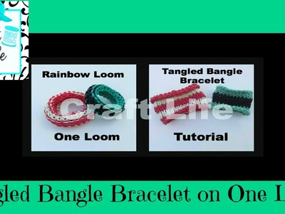 Craft Life Basic Tangled Bangle Bracelet Tutorial on One Rainbow Loom ~ Basic Knitting Stitch Design