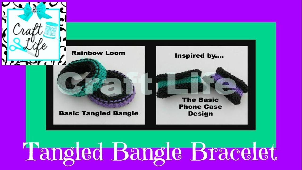 Craft Life Basic Tangled Bangle Bracelet Tutorial on the Rainbow Loom Basic Knitting Stitch Design