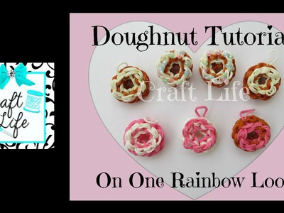 Craft Life Doughnut with Sprinkles Charm Tutorial on One Rainbow Loom