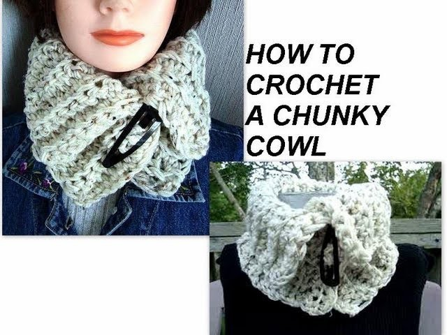 CROCHET A CHUNKY COWL, how to, free crochet pattern, accessories, scarf, women