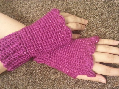 #Crochet Fingerless gloves Wristers #TUTORIAL