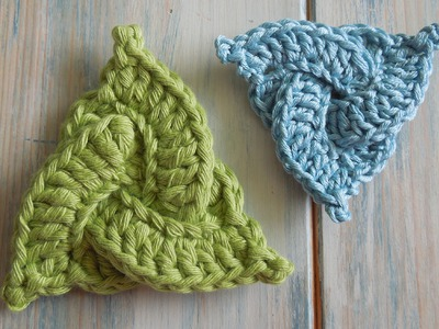 (crochet) How To - Crochet a Celtic Triangle - Yarn Scrap Friday