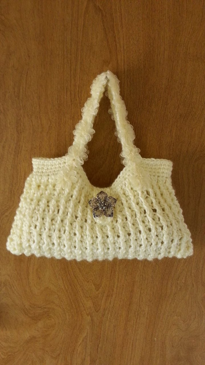 #Crochet Pretty Handbag Purse #TUTORIAL How to Crochet a Purse