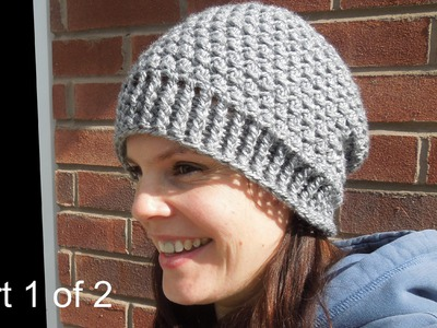(crochet) Pt1: How To Crochet my Cluster Slouchy Beanie - Yarn Scrap Friday