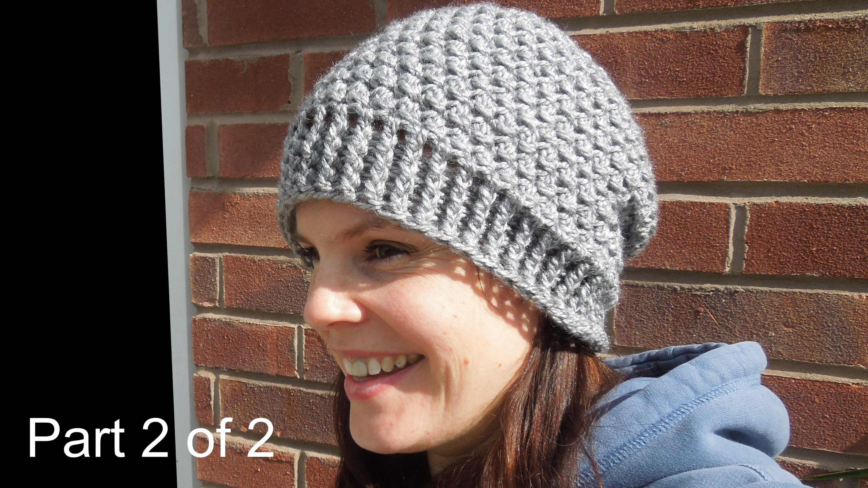 (crochet) Pt2: How To Crochet my Cluster Slouchy Beanie - Yarn Scrap Friday