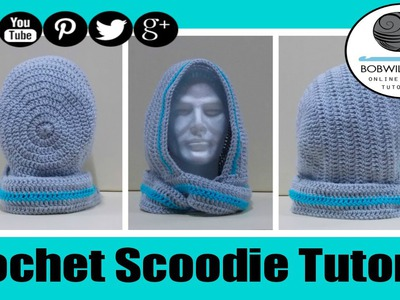 Crochet Scoodie Rounded Hood - with written pattern