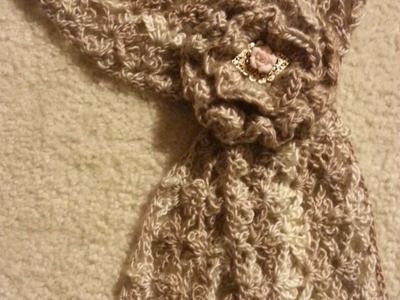 #Crochet Trefoil Lace Stitch Scarf #TUTORIAL how to crochet a scarf DIY SCARF