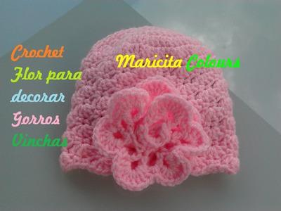 """Crochet Tutorial Flor """"Rosita"""" Vintage para decorar gorros, diademas, bolsos etc"""
