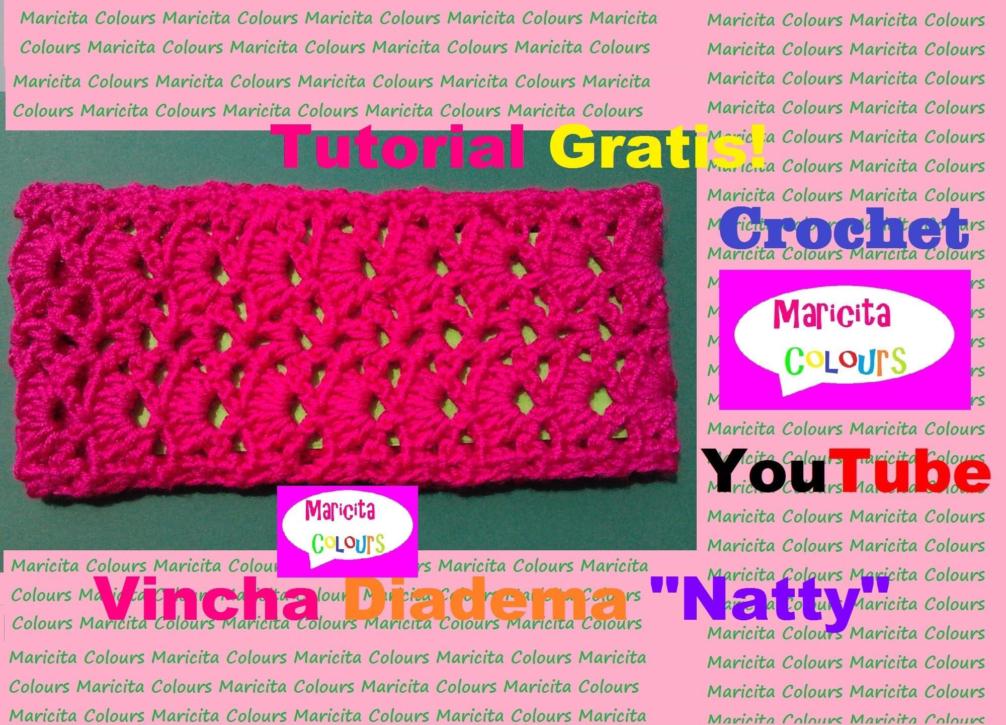 Crochet tutorial vincha bebe diadema natty parte 1 por - Diademas a crochet ...