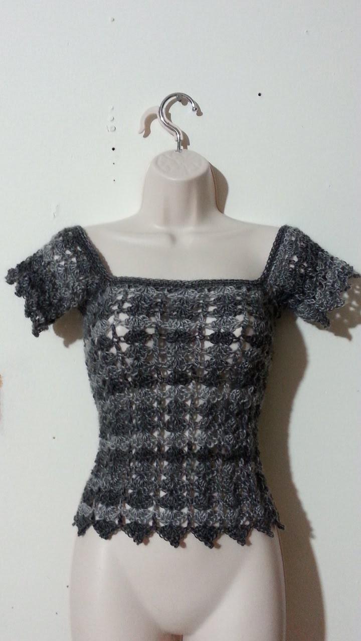 #Crochet Womens' Ladies Shirt top Blouse #TUTORIAL Crochet adult shirt