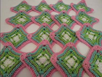 كروشيه مربع 1 Crochet Granny Square