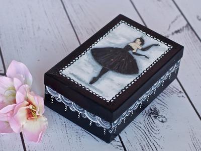Decoupage tutorial - box with ballerina