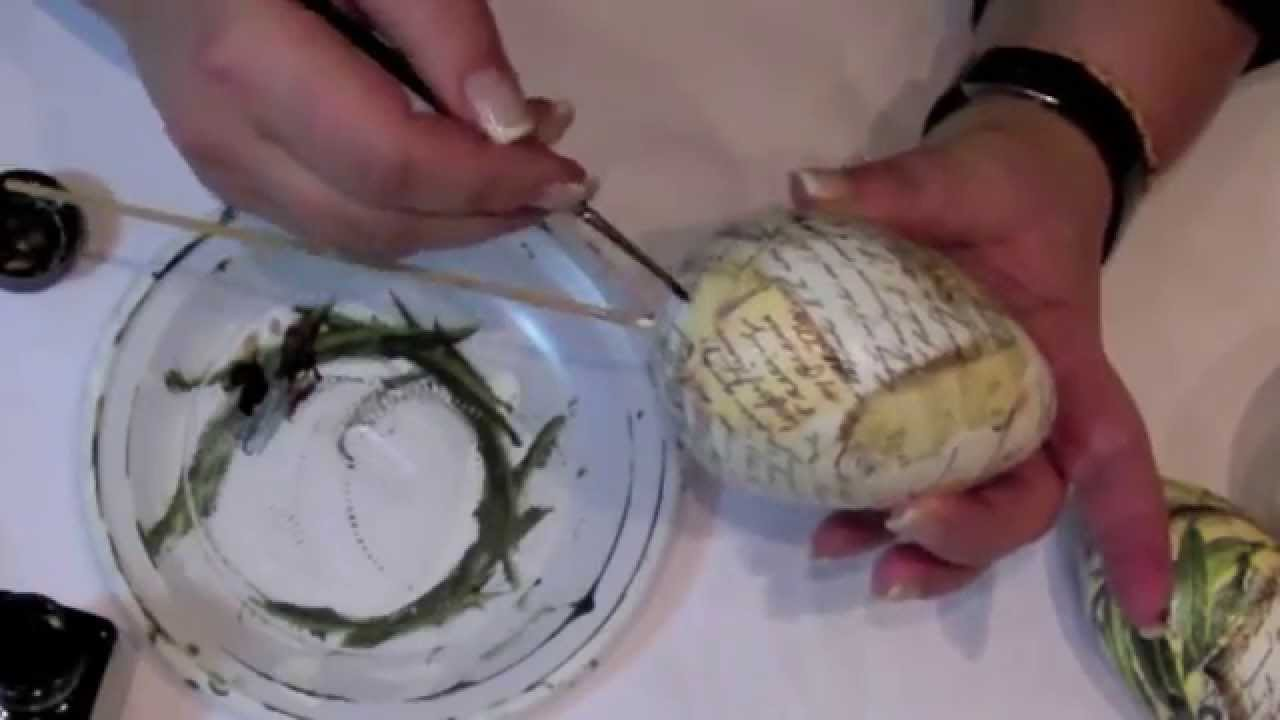 Decoupage tutorial -  easter decoration