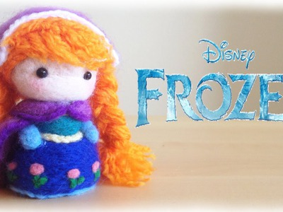 Disney Frozen Anna Plushie Needle felt Tutorial DIY