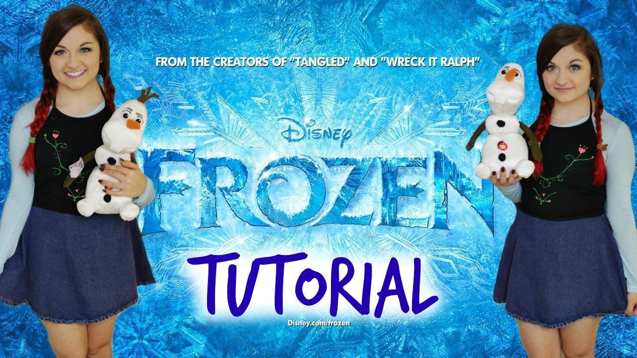 Disney's Frozen: Anna Halloween Makeup Tutorial, DIY Costume & Hair!