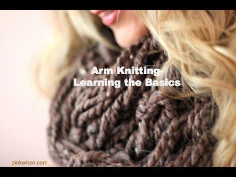 DIY: Arm Knitting  - Learning The Basics (Hand Knitting)