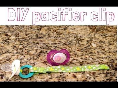 DIY Baby Shower Gift | Pacifier Clip Tutorial | No Sew | Ring & Mam Style