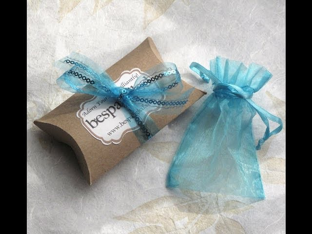 DIY Boxes: How to Make a Pillow Box Tutorial - handmade packaging, great for gifts and jewelry