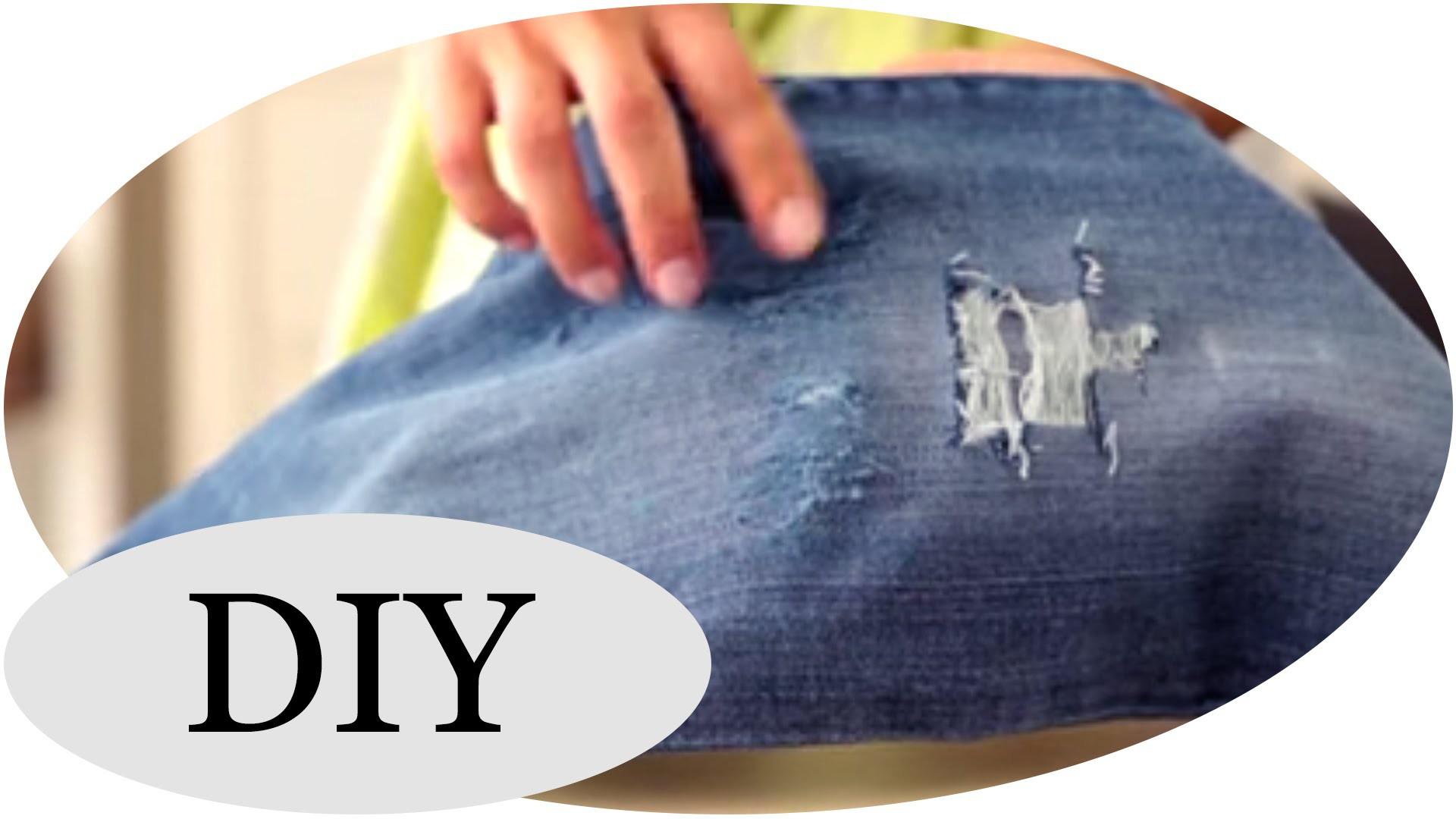 DIY: Coole Destroyed Jeans selber machen - TUTORIAL