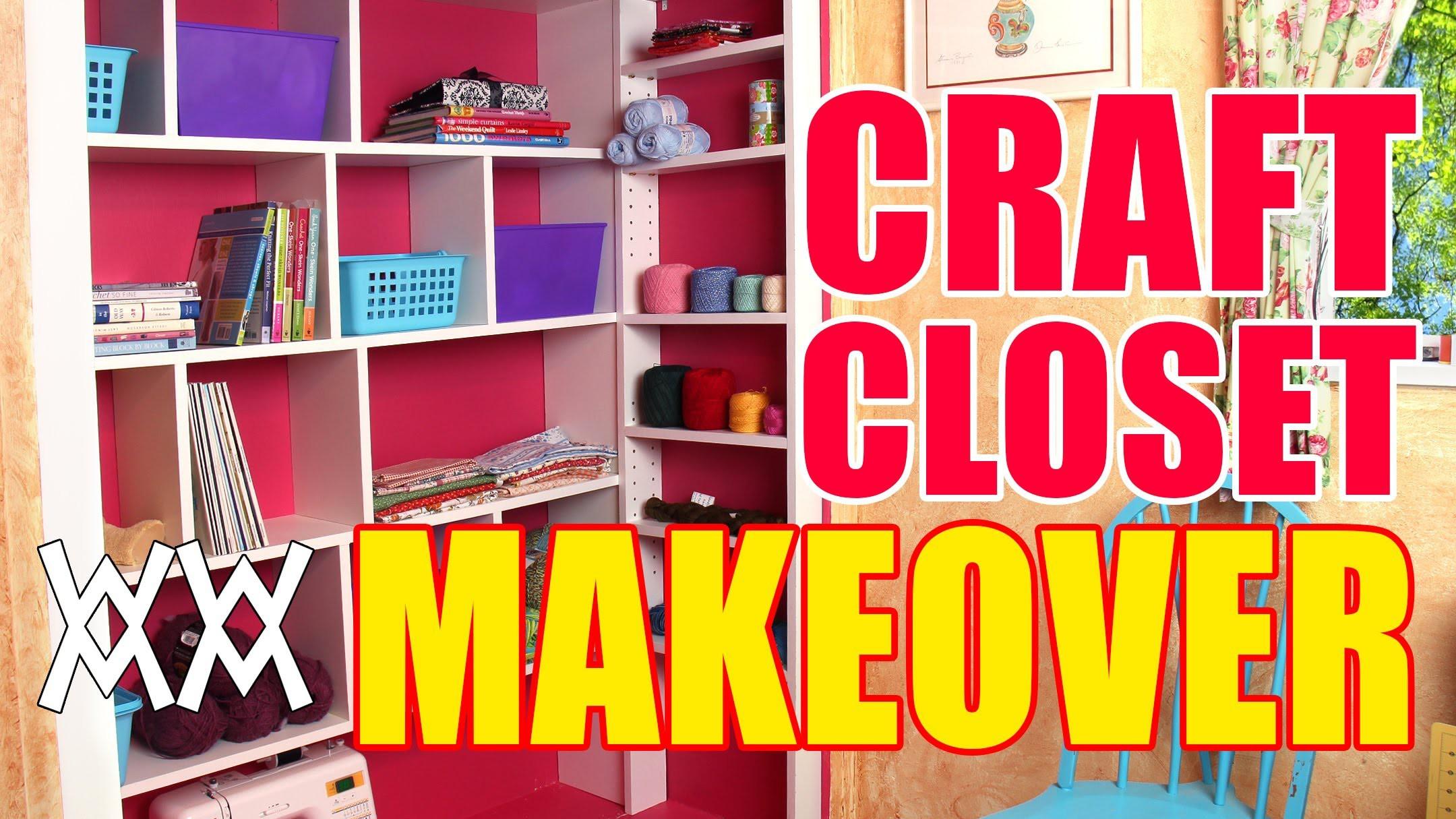 DIY Craft Closet Organizer and Shelving System